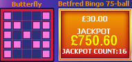 Bingo pattern and jackpot