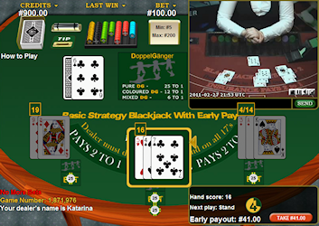 Early Payout Blackjack